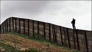 Une portion du mur entre les Etats-Unis et le Mexique