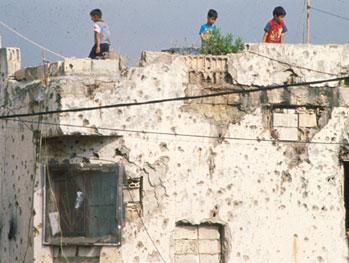 Camp palestinien de Chatila au Liban