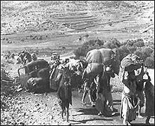 Fuite des survivants de Deir Yacine