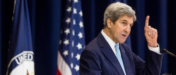 John Kerry sera à Paris le 15 janvier. © Zach Gibson / GETTY IMAGES NORTH AMERICA / AFP/ Zach Gibson