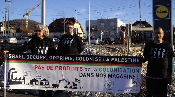 Action BDS « Pas de produits des colonies dans nos magasins