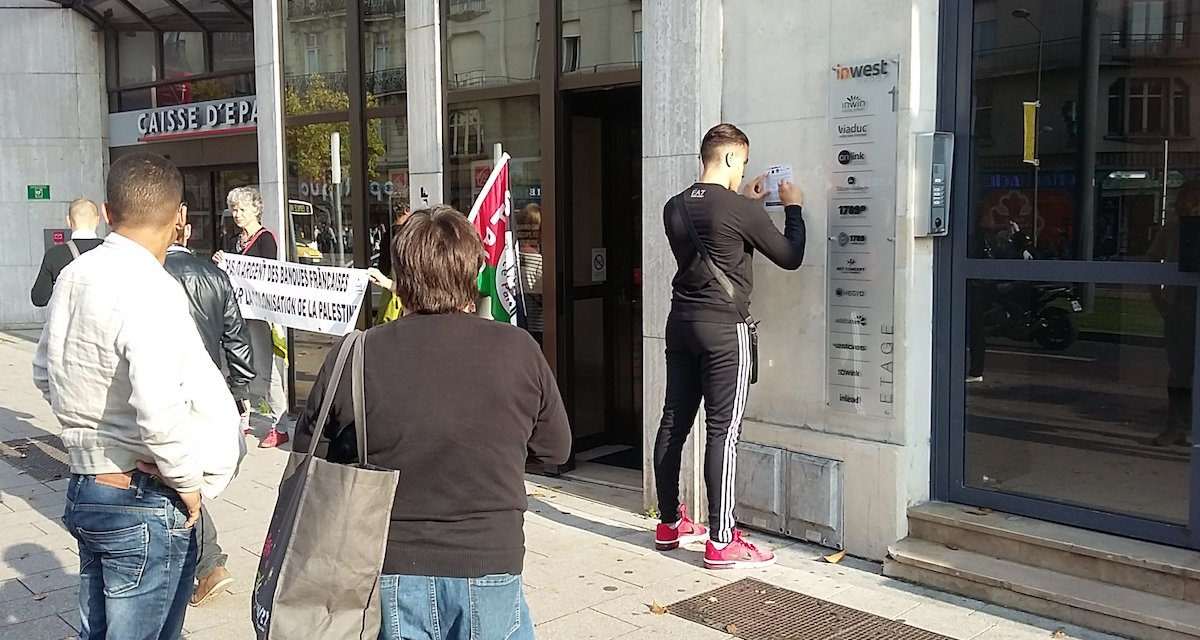Action banques angers association france palestine solidarit for Caisse a outils vide angers