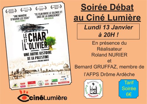 Projection Du Film Le Char Et L Olivier En Presence Du Realisateur Association France Palestine Solidarite