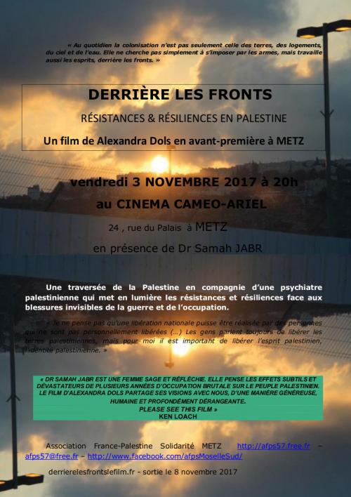 Projection derri re les fronts r sistances for Le derriere metz