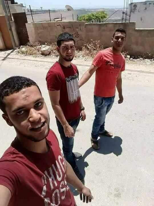 3 jeunes Palestiniens de Deir Abu Mashaal – Adel Ankoush, Bara'a Atta, Osama Atta